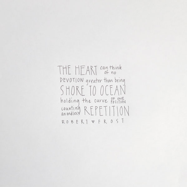 Devotion, pen on paper, 10 x 10 inches