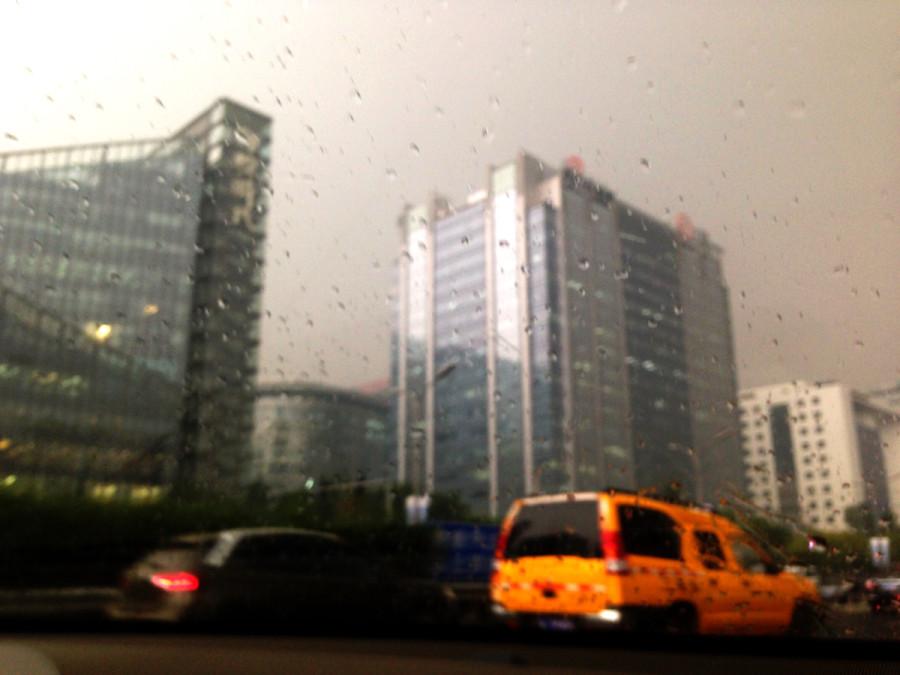 Arriving to Beijing in the rain