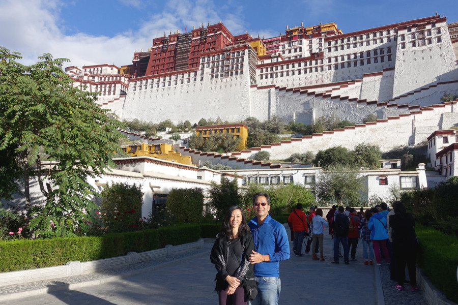 Lhasa - 1st morning at Potala Palace